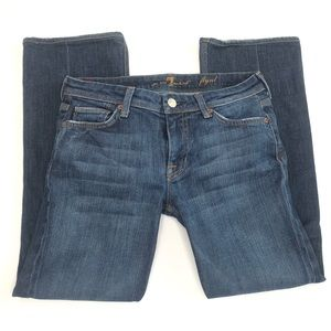 7 For All Mankind Flynt Cropped Jeans Size 28